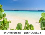 beautiful beach  seascape clear ... | Shutterstock . vector #1054005635