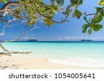 beautiful beach  seascape clear ... | Shutterstock . vector #1054005641