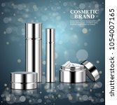 luxury realistic cosmetic ads... | Shutterstock .eps vector #1054007165