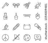 thin line icon set   pencil... | Shutterstock .eps vector #1054009481
