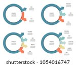 business infographics. chart ... | Shutterstock .eps vector #1054016747