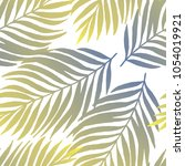 seamless leaf pattern. vector... | Shutterstock .eps vector #1054019921
