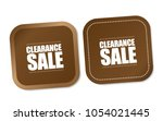 clearance sale stickers | Shutterstock .eps vector #1054021445