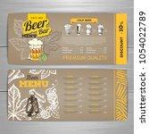 vintage beer menu design on...   Shutterstock .eps vector #1054022789