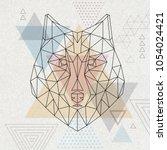 abstract polygonal tirangle...   Shutterstock .eps vector #1054024421