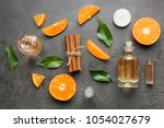 composition with bottles of... | Shutterstock . vector #1054027679