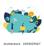 vector business illustration ... | Shutterstock .eps vector #1054029467