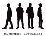 vector silhouettes of men ... | Shutterstock .eps vector #1054031861