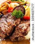 Roast Steak With Vegetables On...