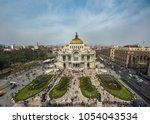 palacio de bellas artes or... | Shutterstock . vector #1054043534