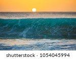 sunset background  big surfing...   Shutterstock . vector #1054045994