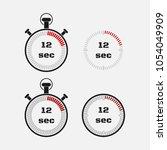 timer 12 seconds on gray... | Shutterstock .eps vector #1054049909