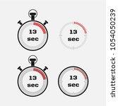 timer 13 seconds on gray... | Shutterstock .eps vector #1054050239