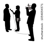 interview with cameraman | Shutterstock .eps vector #1054054571