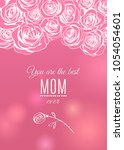 happy mother's day pink... | Shutterstock .eps vector #1054054601