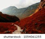 the scottish highlands in... | Shutterstock . vector #1054061255