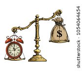Time Is Money Concept. Sack Of...