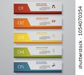 design clean number banners... | Shutterstock .eps vector #1054070354