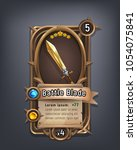 card of fantasy battle blade... | Shutterstock .eps vector #1054075841