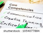 Core Competencies List On A...
