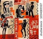 Cool Vintage Vector Of Jazz...