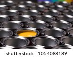 metal tin paint cans | Shutterstock . vector #1054088189