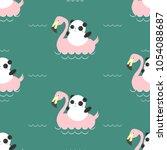 summer sea pattern. the summer... | Shutterstock .eps vector #1054088687