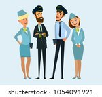pilot  capitan   flying... | Shutterstock .eps vector #1054091921