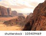 Beautiful View Of The Wadi Rum...