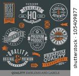 quality and guaranteed   vector ... | Shutterstock .eps vector #105409877