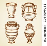 aged assyrian culture... | Shutterstock .eps vector #1054099151