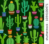 different types of cactus... | Shutterstock .eps vector #1054100471