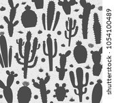 vector cactus silhouettes... | Shutterstock .eps vector #1054100489
