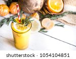 summer composition with fresh... | Shutterstock . vector #1054104851