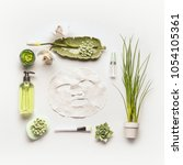 modern facial skin care setting ... | Shutterstock . vector #1054105361