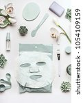 skin care cosmetic setting with ... | Shutterstock . vector #1054109159