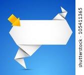 abstract origami speech bubble... | Shutterstock .eps vector #105411365