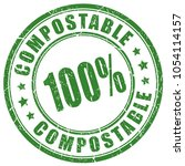 compostable material 100 vector ... | Shutterstock .eps vector #1054114157