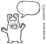 cartoon evil space alien | Shutterstock . vector #105411971