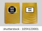 dark yellow vector brochure for ...