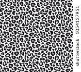 white leopard or  jaguar... | Shutterstock .eps vector #1054127951