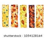 granola and muesli bars  with... | Shutterstock . vector #1054128164