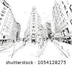 wellington. new zealand. hand... | Shutterstock .eps vector #1054128275