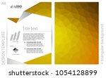 dark yellow vector  brochure...
