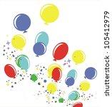 balloons   Shutterstock .eps vector #105412979
