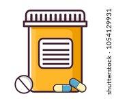 medical pills and bottles...   Shutterstock .eps vector #1054129931