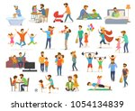 father and child collection ... | Shutterstock .eps vector #1054134839
