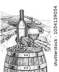 vector illustration of a wine... | Shutterstock .eps vector #1054139054