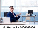 Small photo of Businessman employee unhappy about absent employee