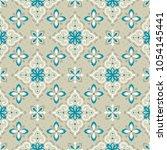 vector damask seamless pattern | Shutterstock .eps vector #1054145441